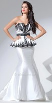 Tony Bowls Le Gala Peplum Trumpet Evening Gown