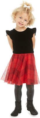 Epic Threads Toddler Girls Velvet & Plaid Dress
