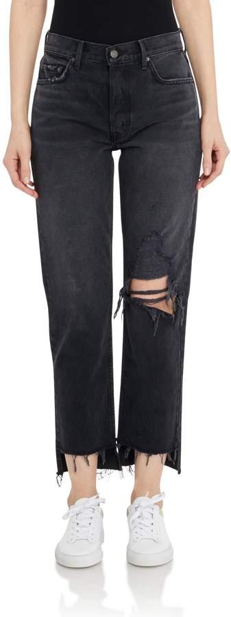 GRLFRND Denim Helena Distressed Straight Leg Jeans