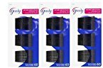 """Goody Bobby Pins 2"""", For Women and Girls, Black - 3 Pack of 60 Pins"""