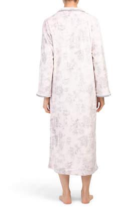 Floral Plush Zip Robe