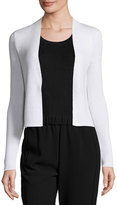 Theory Long-Sleeve Open-Front Cropped Cardigan, Ivory