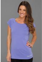Calvin Klein Underwear Cotton Stretch Cap Sleeve Pajama Top (Lapis Lazuli) - Apparel