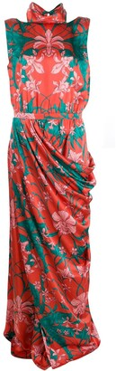 Johanna Ortiz Draped Design Dress