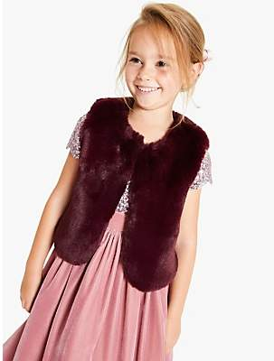 John Lewis & Partners Girls' Gilet, Plum