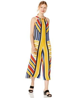 BCBGMAXAZRIA Azria Women's Mixed Stripe Cropped Jumpsuit