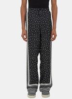 Fendi Men's Printed Pyjama Pants In Black And White