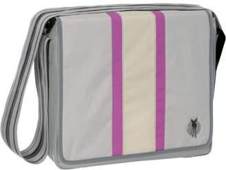 Lassig LMB10404B Classic Messenger Bag - Colour: Grey/Pink/Beige Stripes