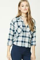 Forever 21 FOREVER 21+ Boxy Flannel Plaid Shirt
