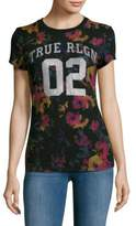 True Religion Floral Print Jersey T-Shirt