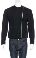 Yohji Yamamoto Wool Zip-Accent Sweater