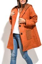 Everest Orange Wool-Blend Peacoat