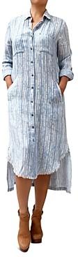 BILLY T Look Both Ways Striped Maxi Shirt Dress