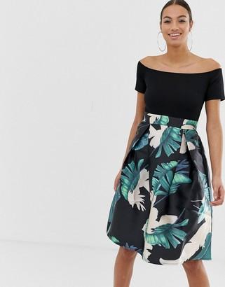 AX Paris bardot full skirt dress