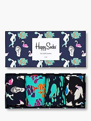 Happy Socks Day in the Park Socks Gift Box, One Size, Pack of 4, Multi