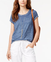 INC International Concepts Petite Burnout T-Shirt, Only at Macy's