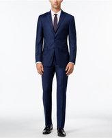 Calvin Klein Men's Extra Slim-Fit Navy Flannel Suit