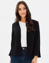 Wallis Flute Sleeve Blazer Jacket