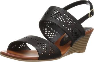 Athena Alexander Women's Sparce Wedge Sandal Black 6 UK/6 M US