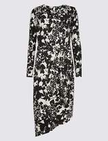 Marks and Spencer Floral Print Cowl Neck Bodycon Midi Dress