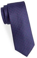 Saint Laurent Floral Neat Silk Narrow Tie