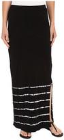 Mod-o-doc Slub Jersey Tie-Dye Stripe Straight Skirt