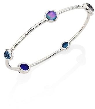 Ippolita Rock Candy Sterling Silver & Multi-Stone 5-Station Bangle Bracelet