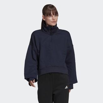 adidas AEROREADY Logo Jacquard Half-Zip Sweatshirt