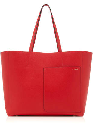Valextra Shopping Large Leather Tote