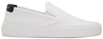 Saint Laurent White Venice Slip-On Sneakers