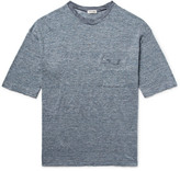 Camoshita Slim-Fit Space-Dyed Knitted Linen T-Shirt