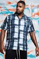 BoohooMAN Big & Tall Quavo Tie Dye Shirt With Print