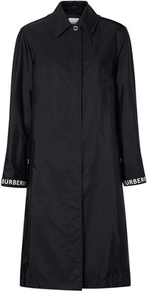 Burberry Logo Striped Trench Coat