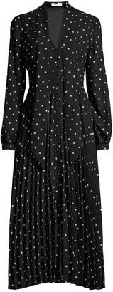Equipment Amirin Polka-Dot Button-Front Dress