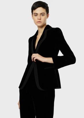 Giorgio Armani Velvet Evening Jacket With Rolled Lapel