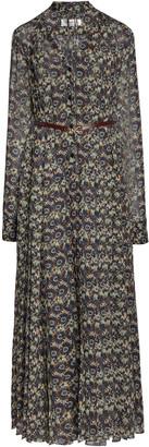 Victoria Beckham Printed Belted Silk Shirt Dress