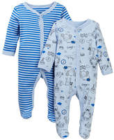 Vitamins Baby Travel Animals Footie - Pack of 2 (Baby Boys)