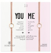 Dogeared Women's Set Of Two Friendship Bracelets