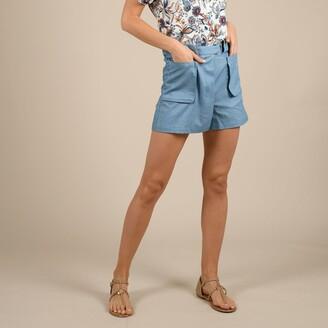 Molly Bracken Cotton Mix Skort with Lace Details