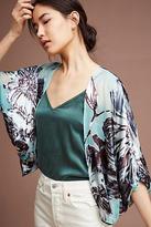 Anthropologie Floral Burnout Kimono