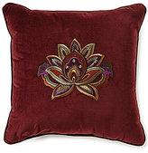 J Queen New York Catherine Embroidered Velvet Square Pillow