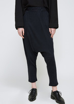 Raquel Allegra Black Cropped Slouchy Pant