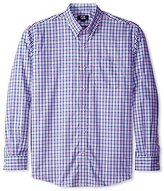 Cutter & Buck Men's Long Sleeve Evergreen Plaid Shirt