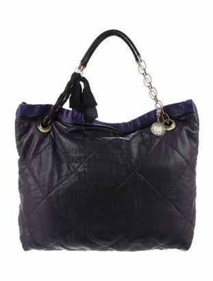 Lanvin Cabas Leather Tote Purple