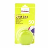 Walgreens Clear Zinc Sunscreen Broad Spectrum SPF 50