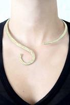 Natalie B Harlot Necklace in Brass