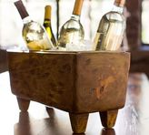 Pottery Barn Blonde Wood Wine Trough