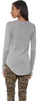 Wilt Shrunken Shirttail Top with Slit Cuffs