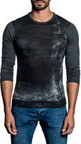 Jared Lang Distressed Panel Sweater, Charcoal