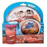 Zak Designs Disney Pixar Cars Movie 3Piece Mealtime Set Drift Version Plate, Bowl & Tumbler